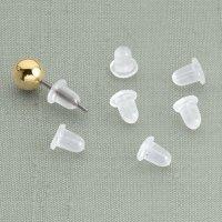 Clear Bullet Earring Backs - Clear Earring Backs - Easy ...