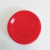 "10"" Red Plastic Plates | EasyDabba.com"