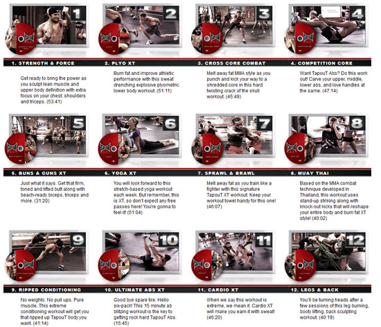 Mike Karpenko\u0027s Tapout XT Plan (6 Days to Reshape Your Body) The