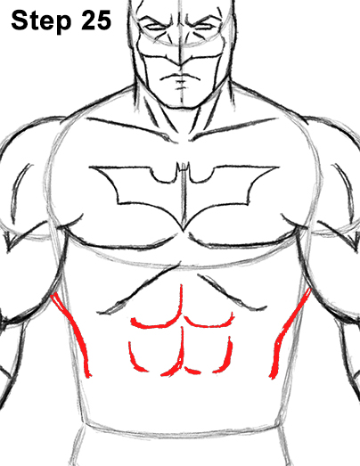 step 5 how to draw a rib cage