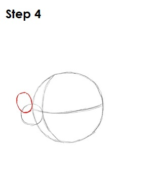 Draw Mickey Mouse Step 4