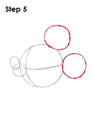 Draw Mickey Mouse Step 5