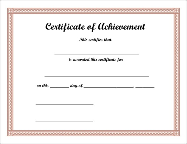 Free Printable Certificate 3 - free printable certificates of achievement