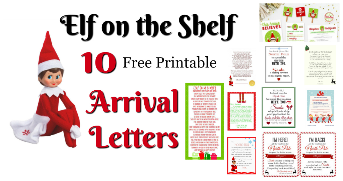 Elf on the Shelf Ideas for Arrival 10 Free Printables! Letters