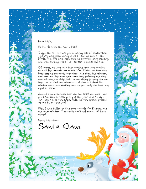 Easy Free Letters from Santa Customize your text and design and - santa template letter