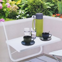 Balcony Folding Table Hanging Hook Railing Shelf Patio
