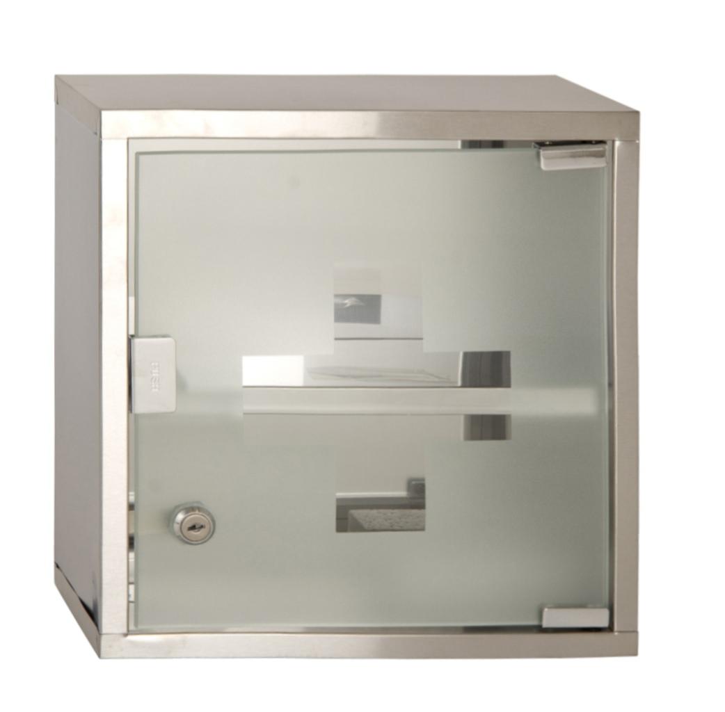 Wall Mounted Lockable 2 Keys Medicine Cabinet Cupboard