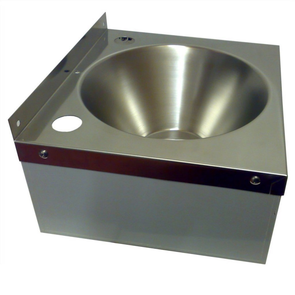 Stainless Steel Hand Wash Basin Sink Only No Taps Easy