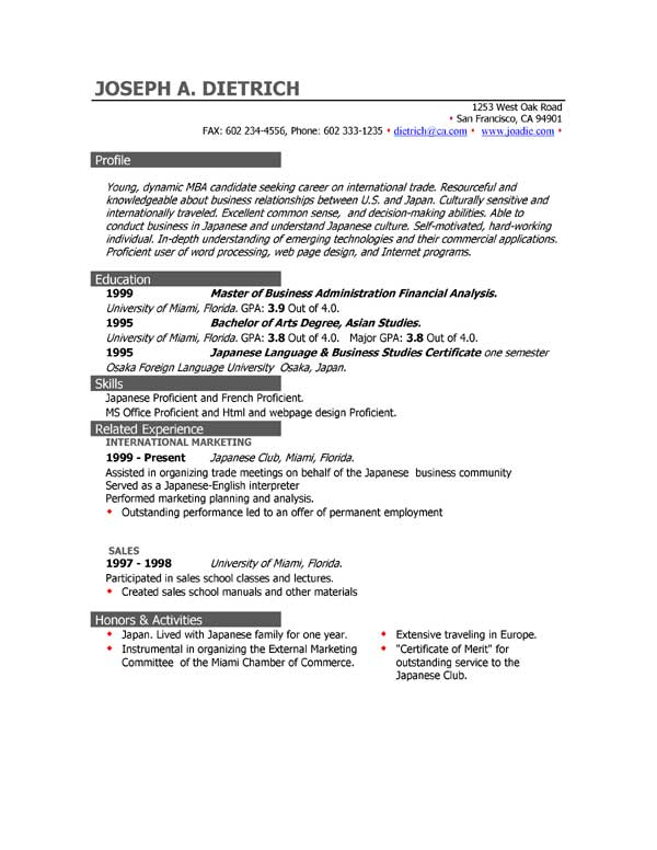 CV Examples FREE Great Examples of CV by EasyJob Examples CVs - examples of resume letters