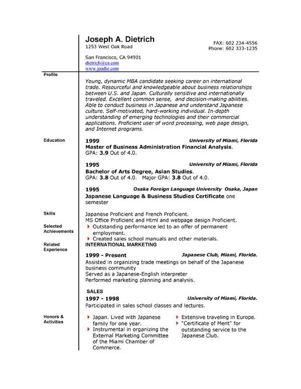 resume builder downloads