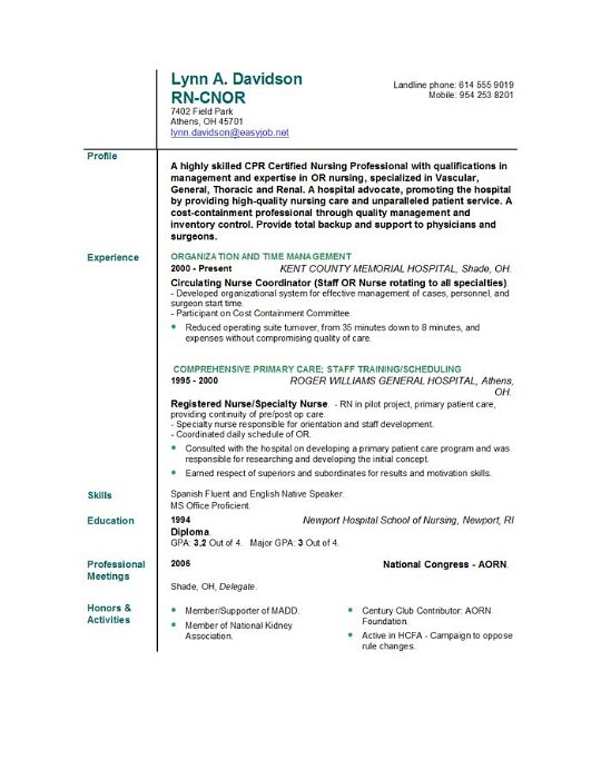 Nurse Resume Examples The Balance Nursing Resume Templates Easyjob Easyjob
