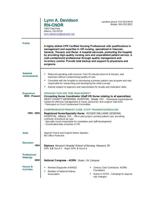 Nursing Resume Template Graduate Nurse Resume Resume Sample Or
