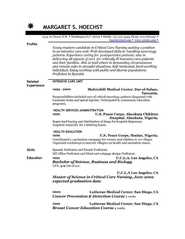 Resume Examples Example of Resume by EasyJob The Best Free - resume exmaples