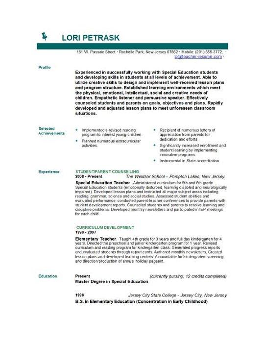 Help writing a teacher resume Sample Teacher Resumes Business LoveToKnow  Sample Teacher Resumes Business  LoveToKnow