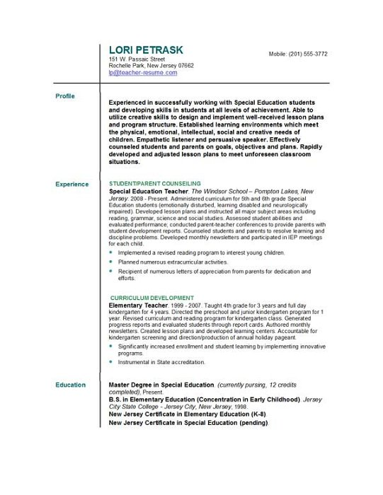 Becky Syverson (becky5133) on Pinterest - example of college student resume