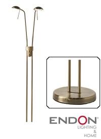 Endon 'Hammersmith' Double Headed Floor Lamp In Antique ...