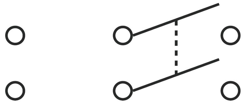 push to break switch circuit symbol the push to break switch is