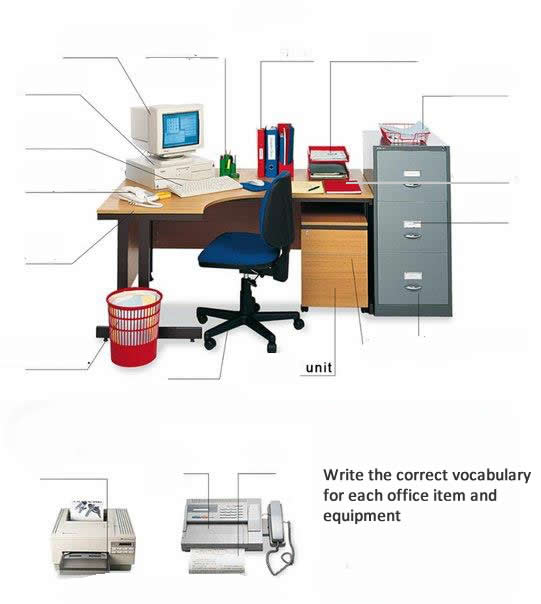 Office equipment exercise learning English - office exercise