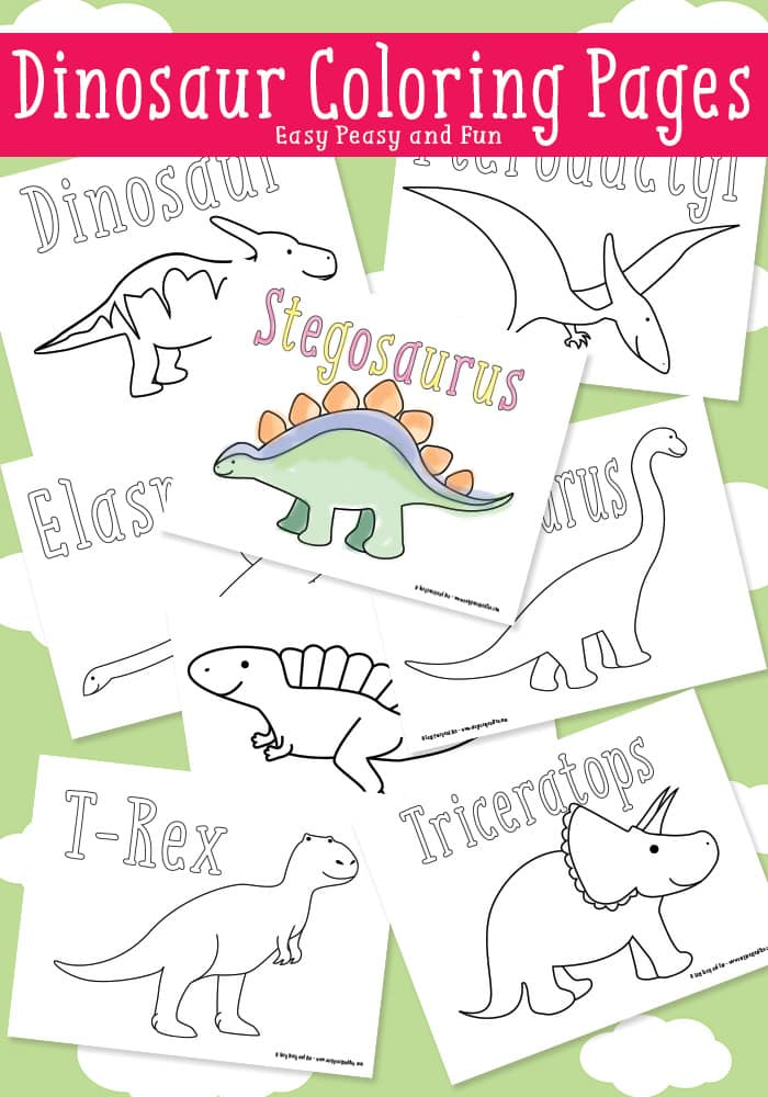 Dinosaur Coloring Pages - Easy Peasy and Fun - coloring dinosaur