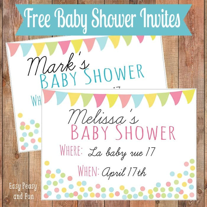 Free Printable Baby Shower Invitation - Easy Peasy and Fun - Printable Baby Shower Invite