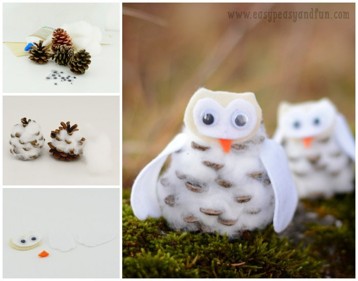 Pinecone Winter Owls Craft - Easy Peasy and Fun