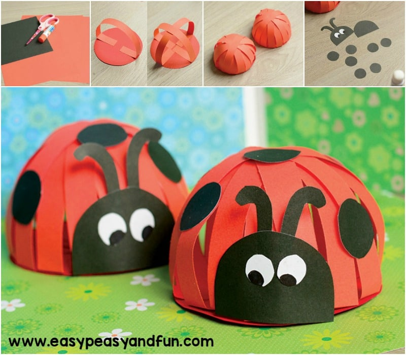 Paper Ladybug Craft - Easy Peasy and Fun
