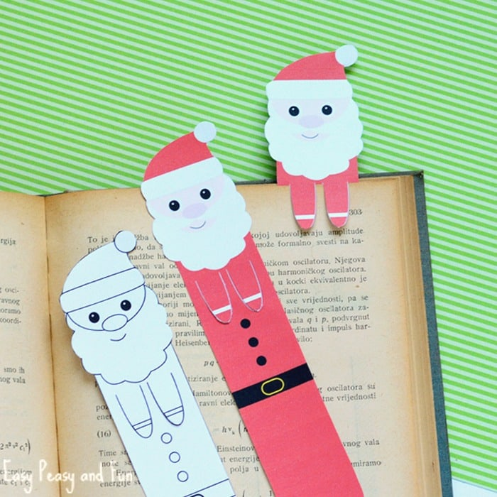 Printable Santa Bookmarks - Christmas Printables - Easy Peasy and Fun