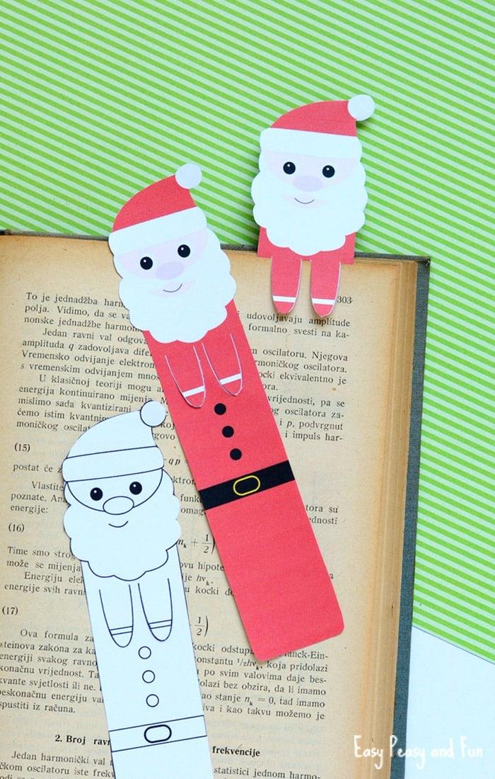 Printable Santa Bookmarks - Christmas Printables - Easy Peasy and Fun