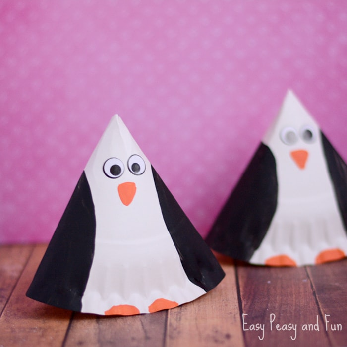 Rocking Paper Plate Penguin Craft - Easy Peasy and Fun