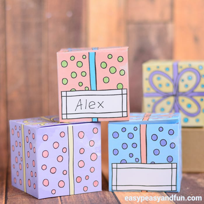 Printable Gift Boxes - Easy Peasy and Fun
