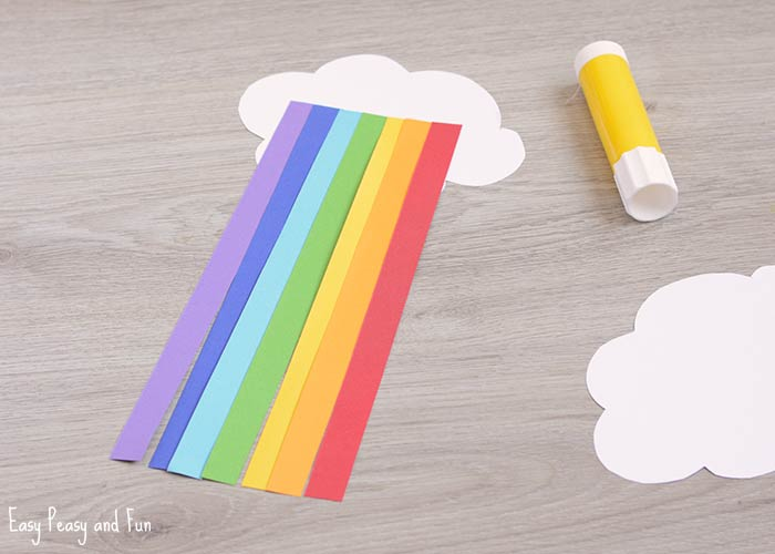 Cute Paper Rainbow Kid Craft - Easy Peasy and Fun - paper lined