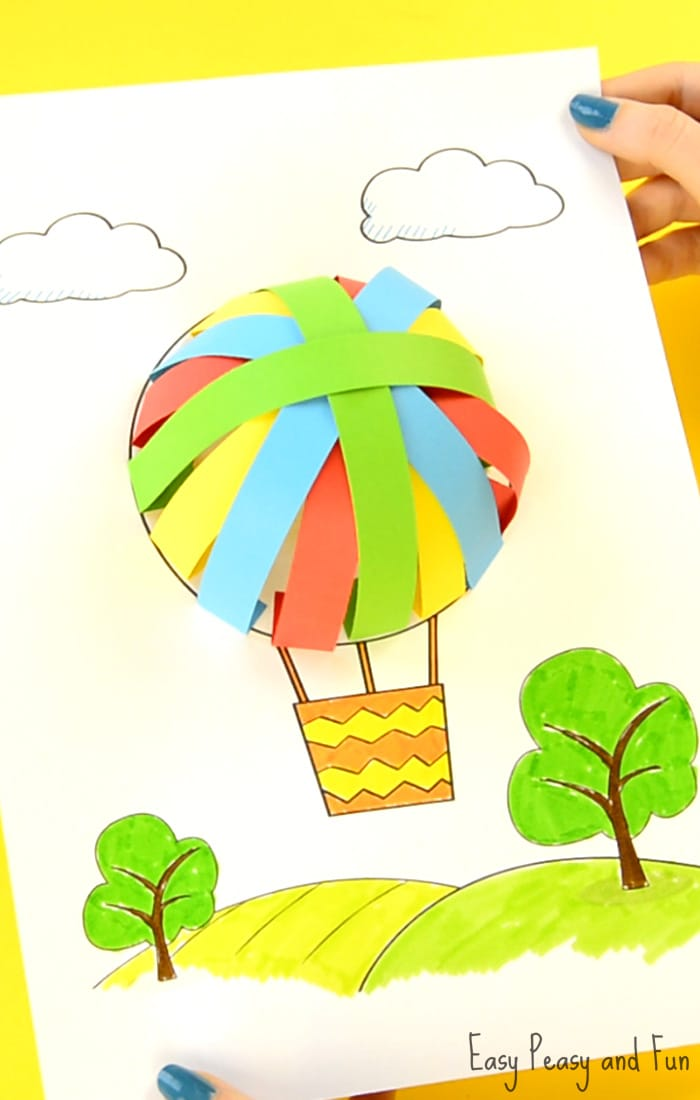 Hot Air Balloon Paper Craft - Easy Peasy and Fun