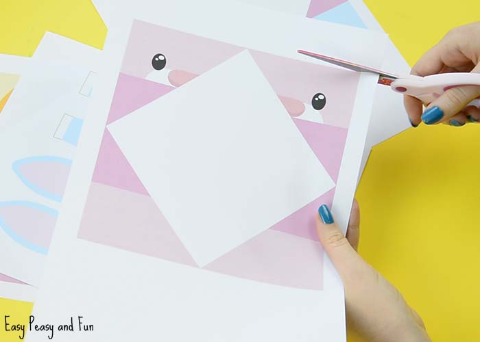 Easter Cootie Catchers - Bunny and Chick Origami for Kids - Easy