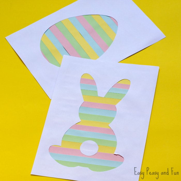 Printable Easter Silhouette Craft - Easter Bunny Template - Easy