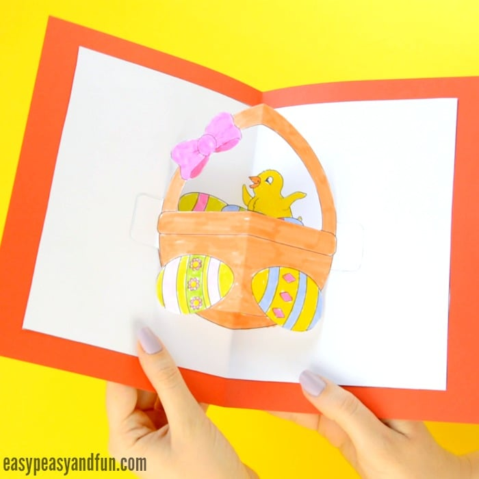 DIY Easter Pop Up Card - Easy Peasy and Fun
