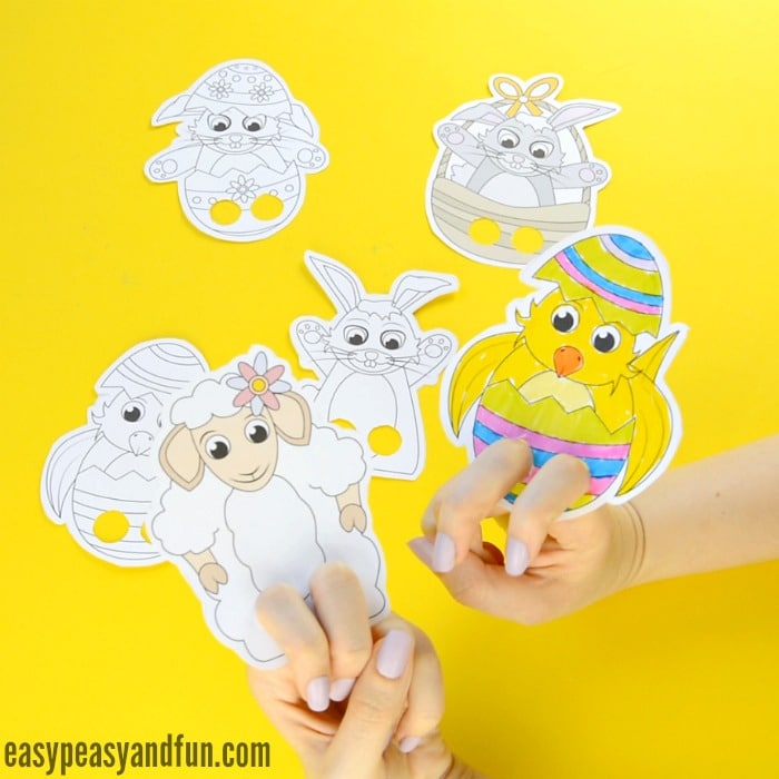 Easter Finger Puppets - Easter Craft Template - Easy Peasy and Fun