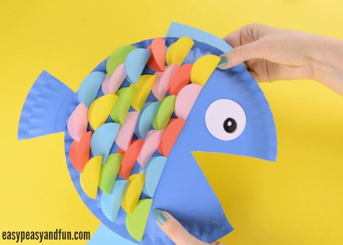 Paper Plate Fish Craft Rainbow Paper Circles Easy