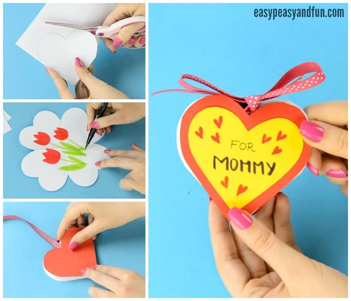 DIY Heart Notebook - Motheru0027s Day Card or Valentines Day Kid Made - gift certificat template
