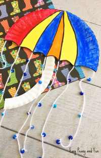 Umbrella Paper Plate Craft - Weather Crafts for Kids ...