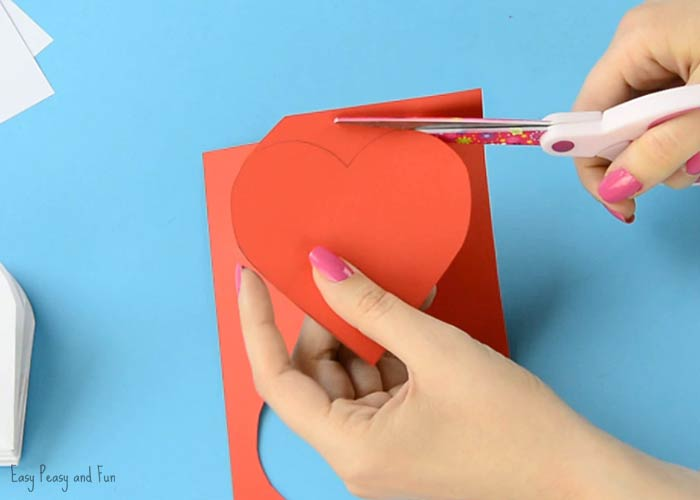 DIY Heart Notebook - Motheru0027s Day Card or Valentines Day Kid Made - paper lined