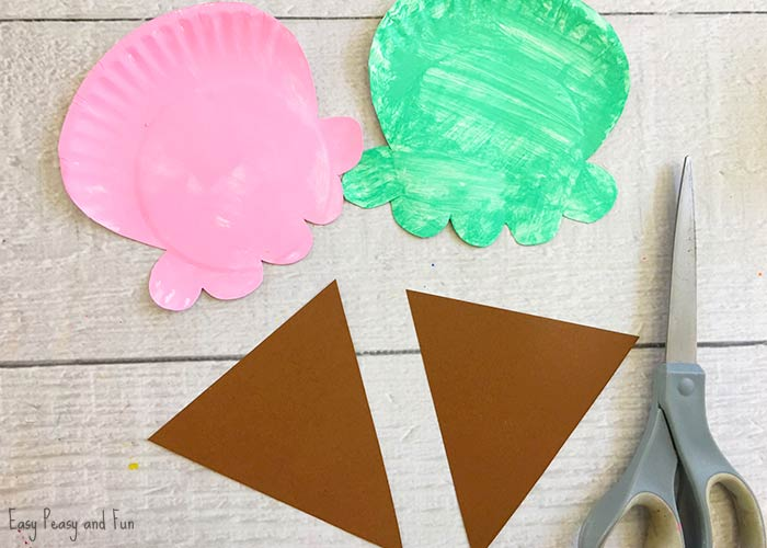 Paper Plate Ice Cream Craft Summer Craft Idea For Kids