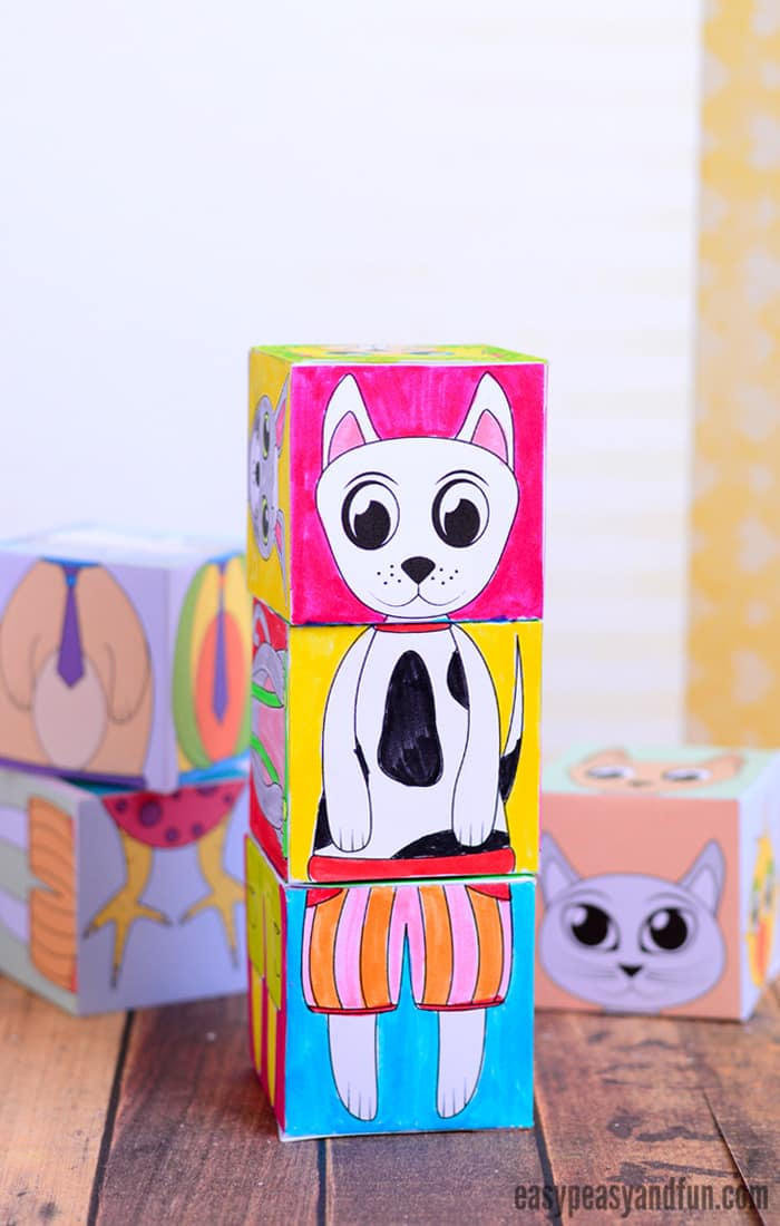 Printable Animals Mix and Match Cubes - Easy Peasy and Fun