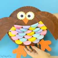 Colorful Paper Plate Owl Craft Idea - Easy Peasy and Fun