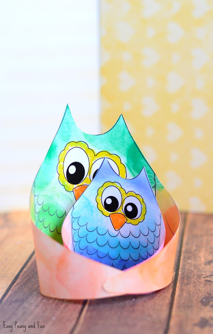 Simple Owl Craft Template - Easy Peasy and Fun