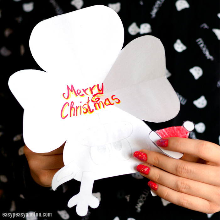 Paper Reindeer Craft With Printable Template - Easy Peasy and Fun