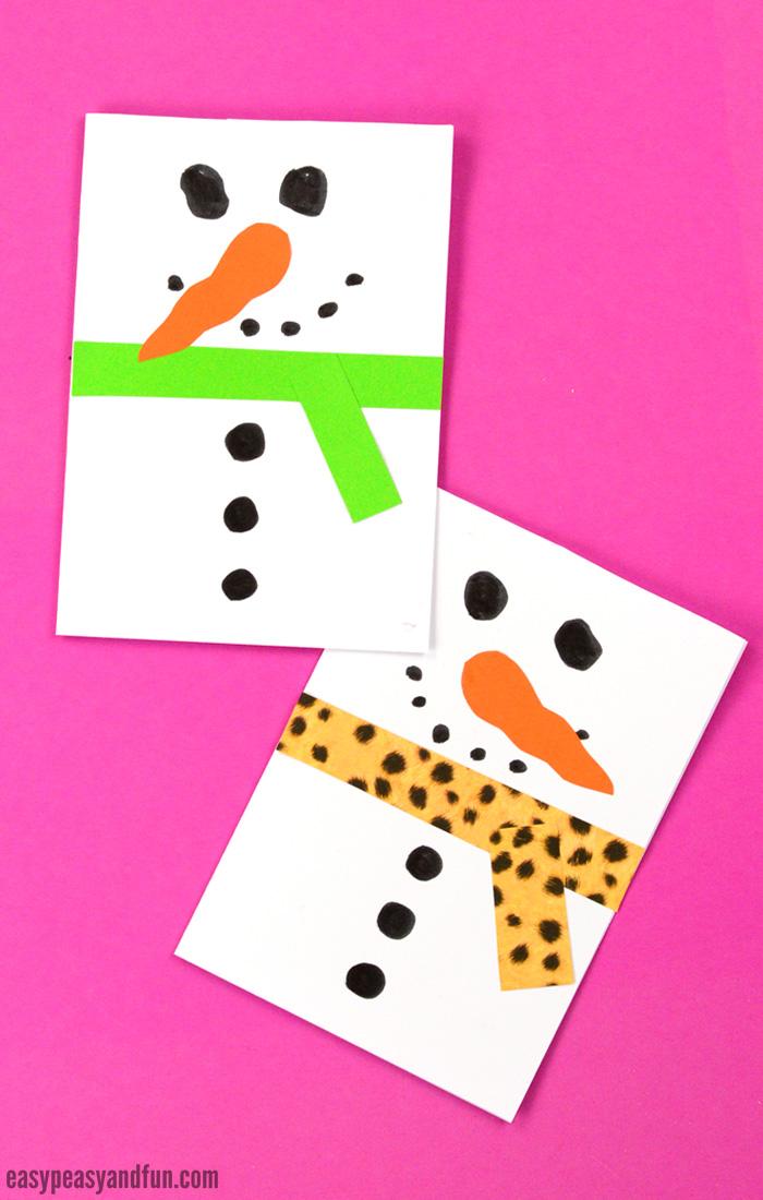 Snowman Christmas Card - Easy Peasy and Fun