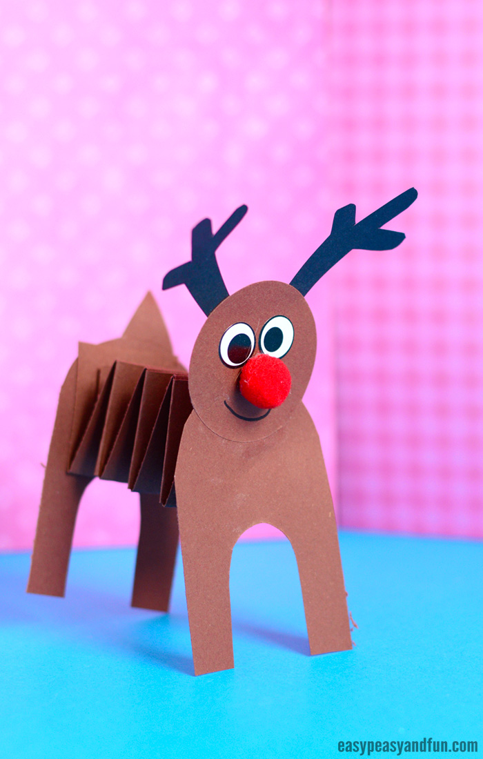 Accordion Paper Reindeer Craft - Easy Peasy and Fun