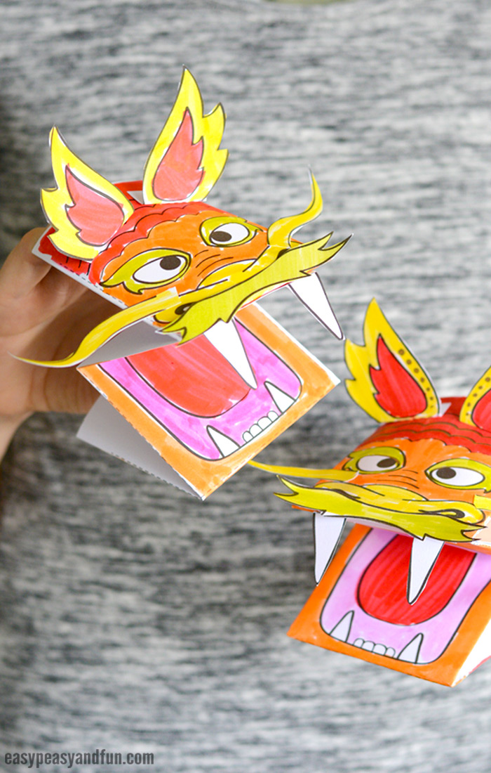 Printable Chinese Dragon Puppet - Easy Peasy and Fun