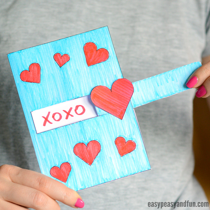 Hidden Message Valentine\u0027s Day Card - Easy Peasy and Fun
