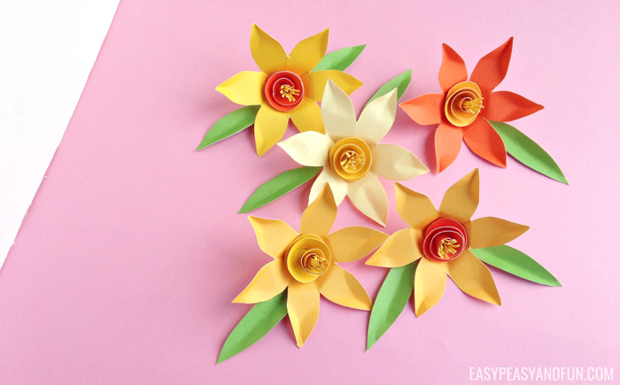 How to Make Paper Daffodils - Easy Peasy and Fun